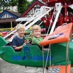 Airplane ride at the Jardin d'Acclimatation