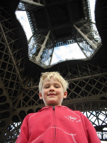 Tommy under the Eiffel Tower