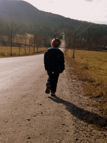 Walking on the Common Road, Waitsfield Vermont