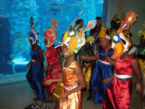 Junkanoo dancers at the Atlantis Resort Bahamas
