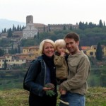 Mara, Matt, and Tommy at the Fiore del Belvedere