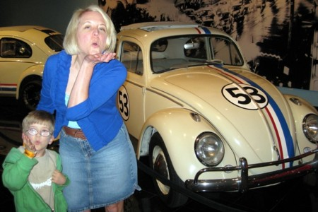 Herbie the Love Bug at the Petersen Automotive Museum