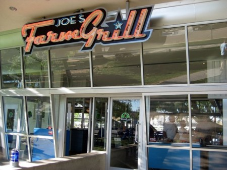 Joe's Farm Grill Sign