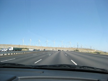 Wind farm outside Palm Springs