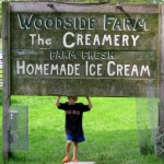 Woodside Farm Creamery sign