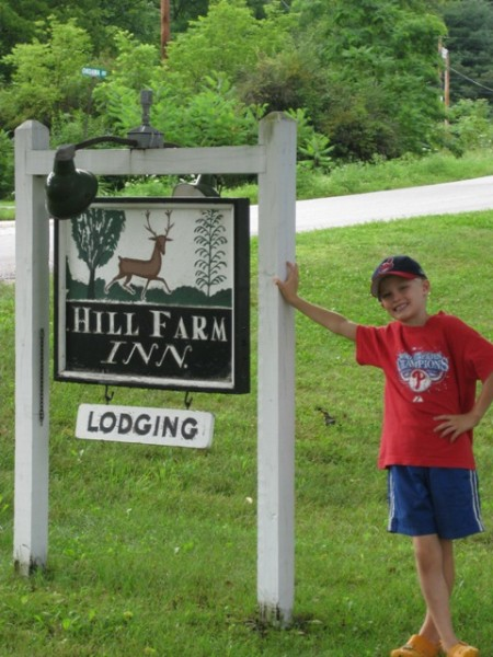 Hill Farm Inn sign