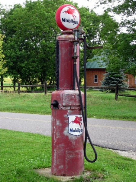Old gas pump Hill Farm Inn