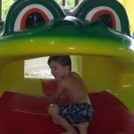 Frog slide at Willow Valley Resort