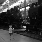Teddy at the Railroad Museum of Pennsylvania