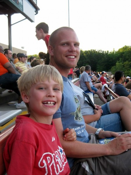 John and Tommy at the Bowie Baysox game