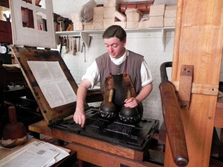 Printmaking in Colonial Williamsburg