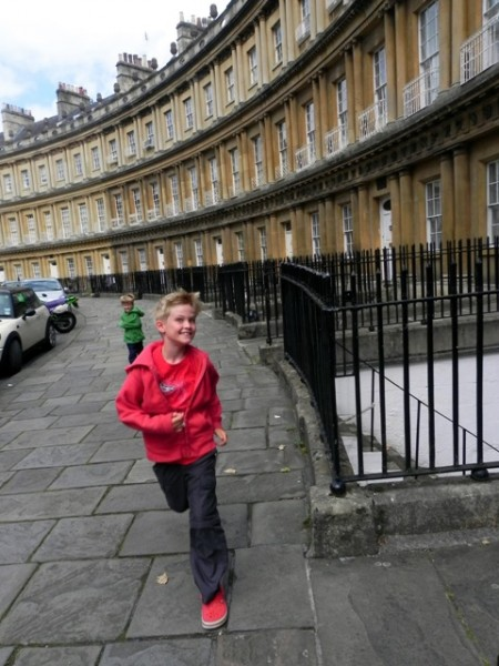 Running on The Circus in Bath