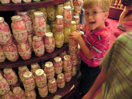 Teddy with candy at Fortnum and Mason