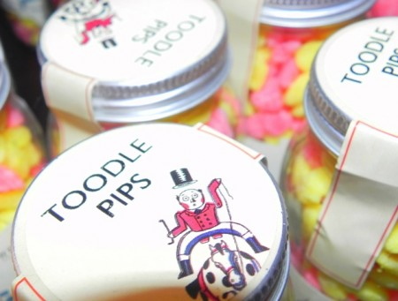 Toodle Pips candy at Fortnum and Mason