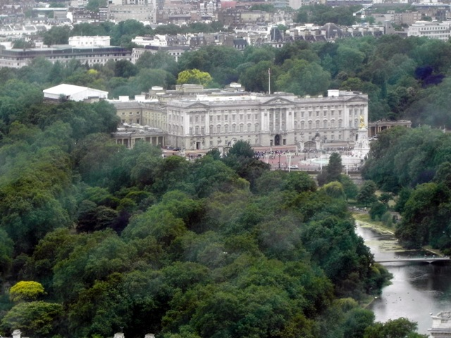 Buckingham Palace from the London Eye