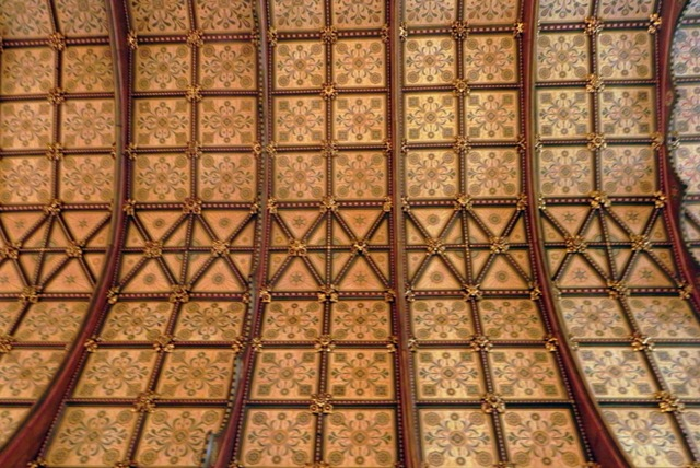 Ceiling of the Keble College dining hall