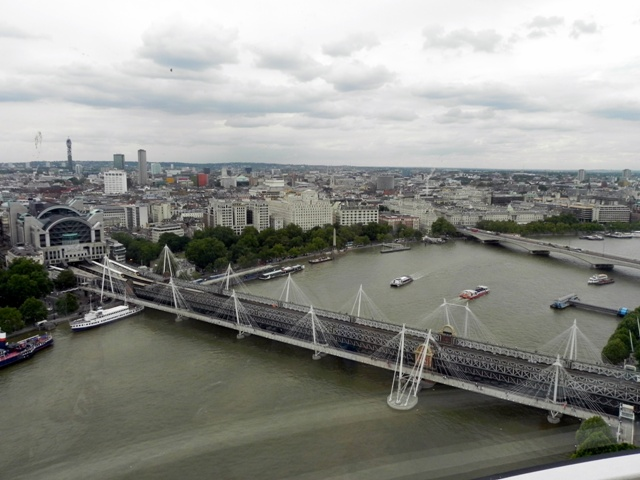 Jubilee Bridge from the London Eye