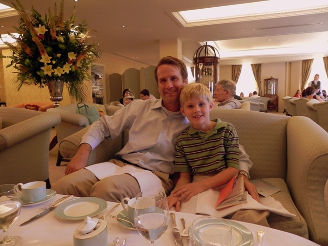 Relaxing over tea at Fortnum & Mason