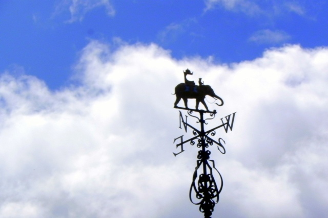 Weathervane on top of the Old Indian Institute Building in Oxford