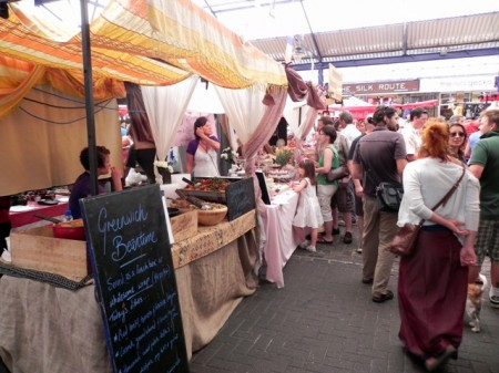 Food stalls in the Greenwich Market