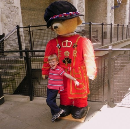 Giant teddy at the Tower of London