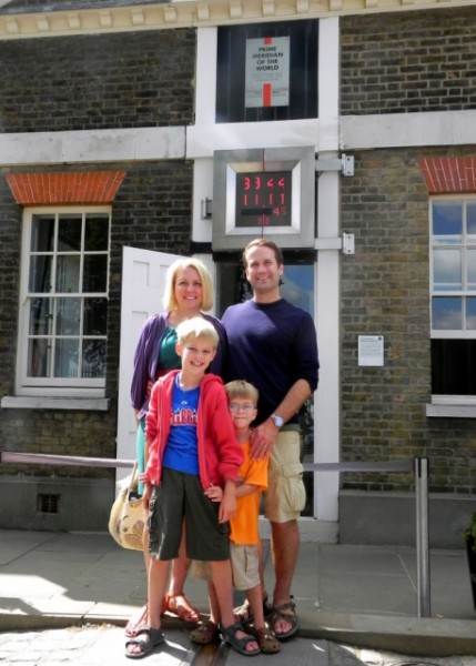 Our family at the Prime Meridian 2010