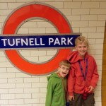 Tommy & Teddy at the Tufnell Park Tube stop
