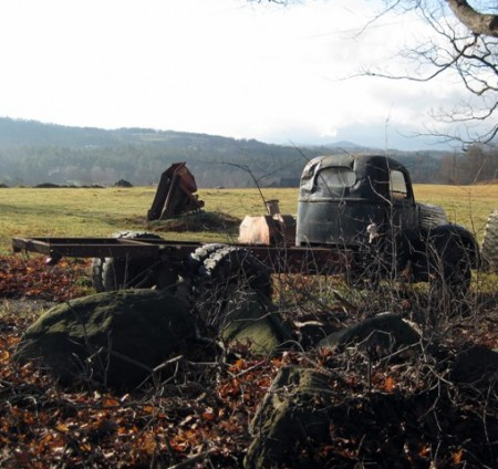 Abandoned truck on the Common Road, Waitsfield