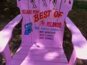 Chair in front of The Island Cow, Sanibel