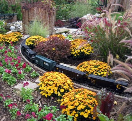 Fall train display at Longwood Gardens