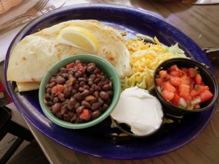 Fish and shrimp tacos Island Cow Sanibel