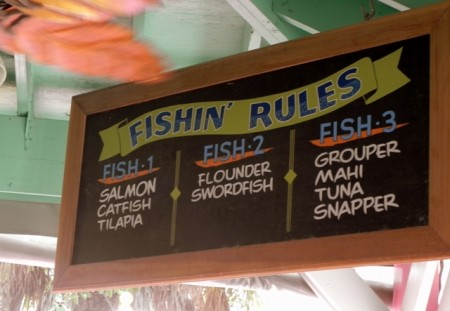 Fishin' Rules sign Island Cow Sanibel