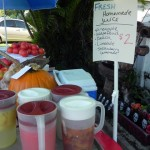 Fruit juices at the Heavenly Biscuit produce stand