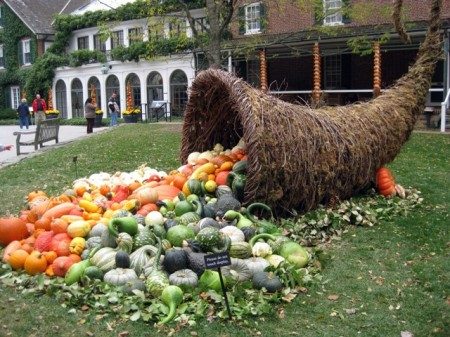 Giant cornucopia at Longwood Gardens