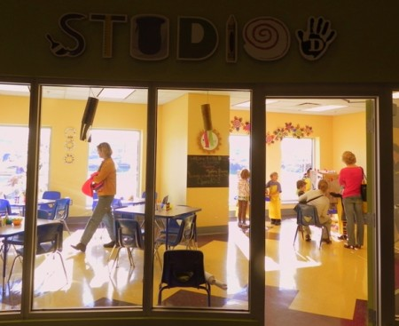 Art studio at the Delaware Children's Museum