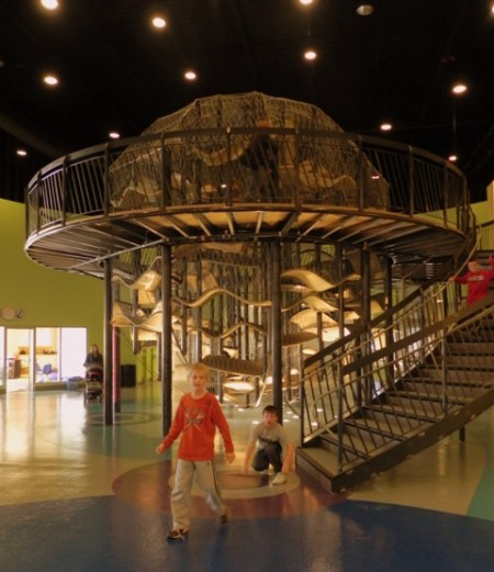 Climbing structure at the Delaware Children's Museum
