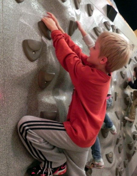 Climbing wall at the Delaware Children's Museum