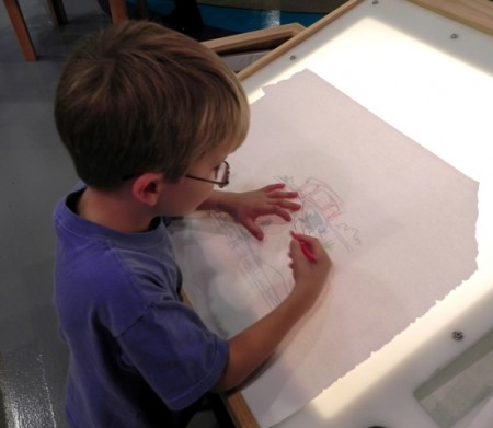Drawing at the Delaware Children's Museum