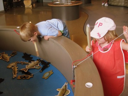 Fishing at the Delaware Children's Museum