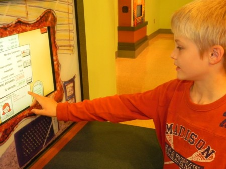 Interactive game at the Delaware Children's Museum