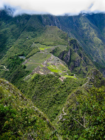 Machu Picchu from Wayna Picchu by Peter West Carey