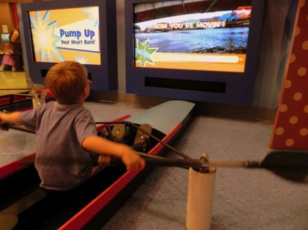 Rowing at the Delaware Children's Museum