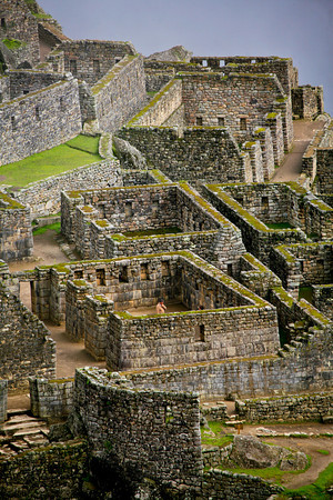 Ruins at Machu Picchu by Peter West Carey