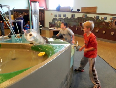Water table at the Delaware Children's Museum
