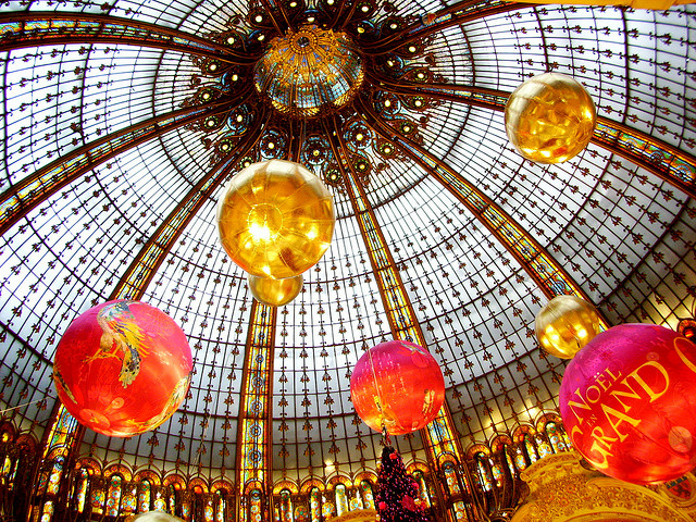 Galeries Lafayette decorated for Christmas
