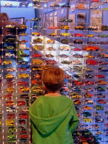 Hot Wheels exhibit at the Petersen Automotive Museum