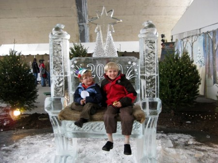 Ice sculpture bench at Peeps Fest 2009