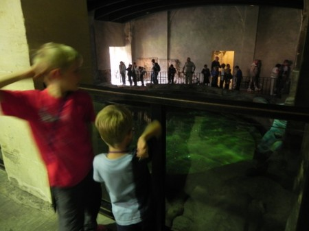 Throwing coins in the Roman Bath