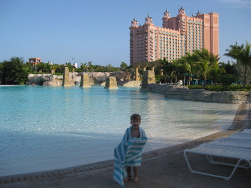 In front of The Baths pool Atlantis Resort Baham
