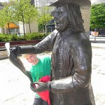 William Penn statue in Bristol England